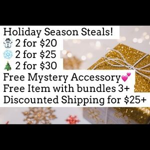 Holiday Steals & Discounts!🎄❄️